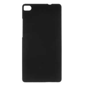 Rubberized PC Back Case for Huawei Ascend P8 - Black