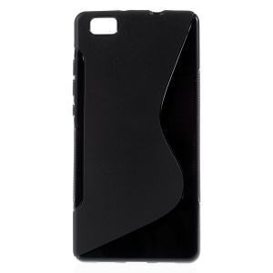 S Shape TPU Case for Huawei Ascend P8 Lite - Black