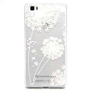 Embossed TPU Phone Case for Huawei Ascend P8 Lite - Dandelion