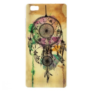 For Huawei Ascend P8 Lite Glossy TPU Gel Skin Cover - Watercolor Dreamcatcher