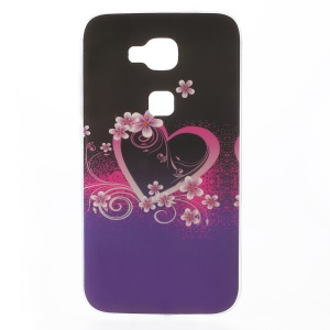 Patterned TPU Phone Case for Huawei G8 - Flower and Heart