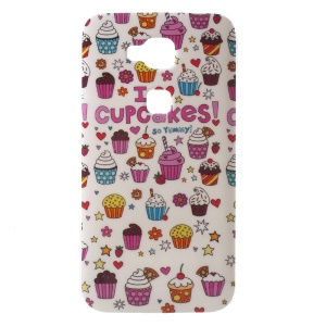 Patterned TPU Phone Case for Huawei G8 - Cartoon Ice Cream