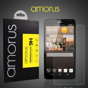 AMORUS 9H Tempered Glass Screen Protector for Huawei Ascend Mate2 4G Arc Edge