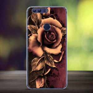 Embossing Patterned TPU Back Case Cover pour Huawei Honor 8 - des roses gothique