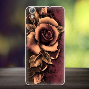 Embossing Patterned TPU Back Case Cover for Huawei Y6 II/Y6II/Honor 5A - Gothic Rose