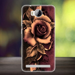 Embossing Patterned TPU Mobile Phone Case for Huawei Y3II / Y3 II - Gothic Rose