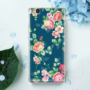 Softlyfit Embossed Soft TPU Mobile Phone Cover for Huawei P9 Lite / G9 Lite - Blooming Roses