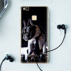 Softlyfit Embossment Gel TPU Protective Phone Case for Huawei P9 Lite / G9 Lite - Retriever Dog