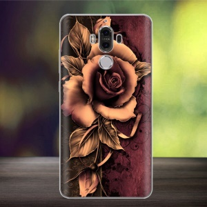 Softlyfit Embossment Flexible TPU Back Case for Huawei Mate 9 - Gothic Rose
