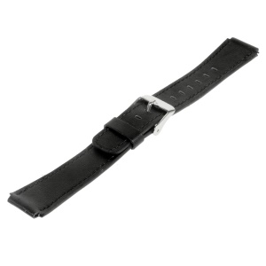 Genuine Leather Watchband Wristband for Huawei TalkBand B2 - Black