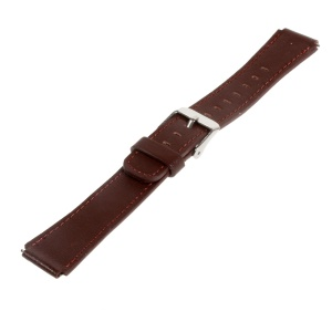 Genuine Leather Watchband Wristband for Huawei TalkBand B2 - Brown