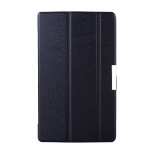 Tri-fold Smart Leather Stand Case for Lenovo Tab S8-50 - Black