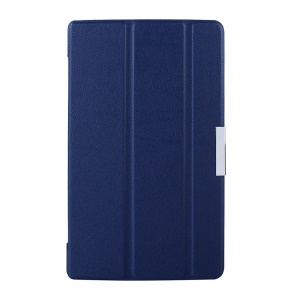 Tri-fold Smart Leather Stand Case Shell for Lenovo Tab S8-50 - Blue