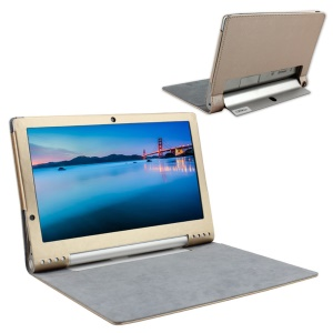 PU Leather Folio Cover for Lenovo Yoga Tablet 2 Pro 13.3 - Gold