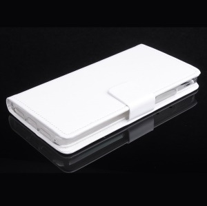 Crazy Horse Skin Flip Leather Cover for Lenovo S60-T S60-W with Card Slots - White