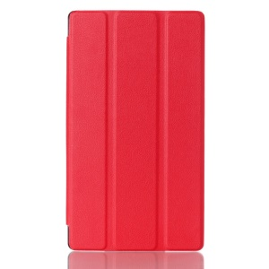 Tri-fold Stand Smart Leather Case for Lenovo Tab 2 A7-10 - Red