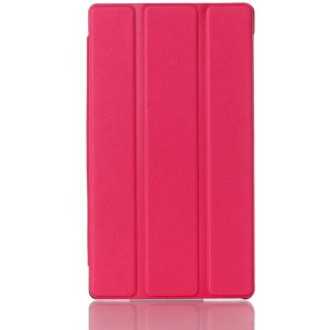 3-fold Stand Smart Leather Shell for Lenovo Tab 2 A7-30 - Rose