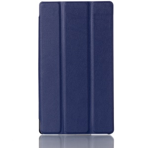 3-fold Stand Smart Leather Cover for Lenovo Tab 2 A7-30 - Blue