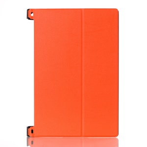 Bi-fold Stand Leather Case for Lenovo Yoga Tablet 2 10-inch 1050 - Orange