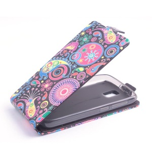 Paisley Flower Vertical Leather Flip Case for Lenovo A328