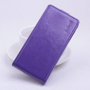 Crazy Horse Vertical Leather Cover for Lenovo P780 - Purple