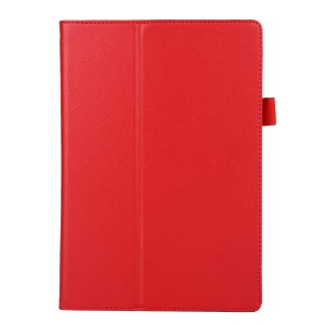 Litchi Texture 2-fold Stand Leather Case for Lenovo TAB 2 A10-70 - Red