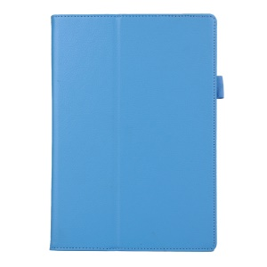 Litchi Texture 2-fold Stand Leather Case for Lenovo TAB 2 A10-70 - Light Blue