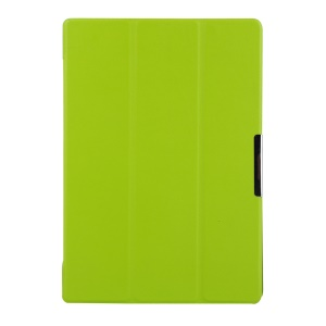 Litchi Skin Tri-fold Leather Case for Lenovo TAB 2 A10-70 with Stand - Green