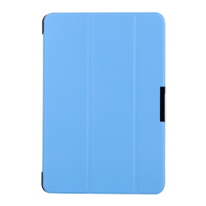 Litchi Skin Tri-fold Leather Cover for Lenovo TAB 2 A10-70 with Stand - Baby Blue