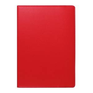 Litchi Texture Rotating Stand Leather Cover for Lenovo TAB 2 A10-70 - Red