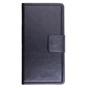 Crazy Horse Leather Stand Case for Lenovo A5000 5.0-inch - Black