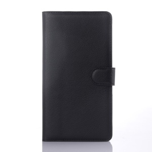 Litchi Skin PU Leather Card Holder Cover for Lenovo Note 8 A936 - Black