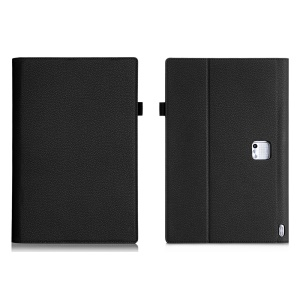 Lychee Grain PU Leather Folio Case for Lenovo Yoga Tablet 2 Pro 13.3 - Black