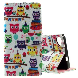 Callfree for Lenovo Vibe X2 Stand Leather Case Cover - Cute Colorful Owls