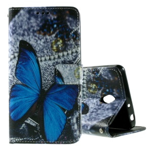 Callfree PU Leather Wallet Phone Case for Lenovo S860 - Blue Butterfly