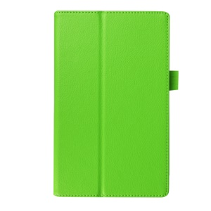 Litchi Grain Protective Leather Cover for Lenovo Tab 2 A8-50 - Green
