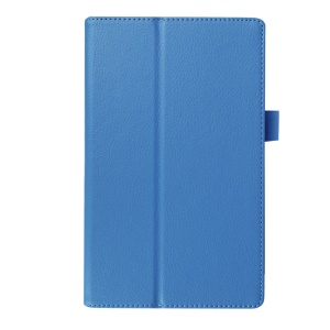 Litchi Grain Protective Leather Shell for Lenovo Tab 2 A8-50 - Light Blue