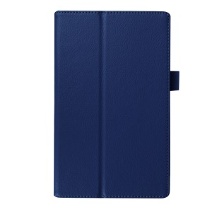 Litchi Grain Protective Leather Cover for Lenovo Tab 2 A8-50 - Dark Blue