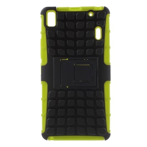 Detachable PC and TPU Hybrid Cover for Lenovo K3 Note K50-t5 / A7000 - Green