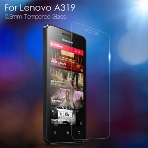 0.3mm Tempered Glass Screen Protector Shield Film for Lenovo A319 Arc Edge