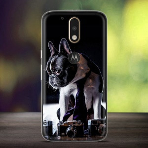 Embossing Phone Case with Pattern Printing for Motorola Moto G4 / G4 Plus (TPU) - Retriever Dog