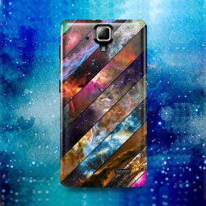 Softlyfit Embossment Flexible TPU Gel Cell Phone Shell for Lenovo A536 - Galaxy