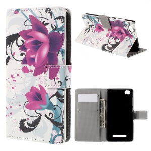 Kapok Flower Flip Wallet Stand Leather Phone Cover for Xiaomi Mi 4i / 4c