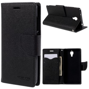 NEWSETS MERCURY Wallet Leather Case for Xiaomi Mi 4 - Black