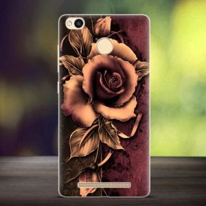 Softlyfit Embossed TPU Phone Cover for Xiaomi Redmi 3s - Gothic Rose