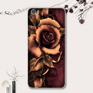 Softlyfit Embossed Pattern TPU Mobile Case for Xiaomi Mi 5 - Gothic Rose