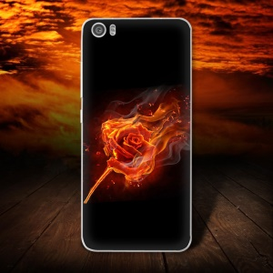 Softlyfit Patterned TPU Embossing Case Accessory for Xiaomi Mi 5 - Rose on Fire