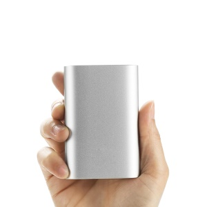 DC 5.1V 2.1A XIAOMI Aluminum Shell 10000mAh Slim Power Bank for Pokemon/iPhone/Samsung etc - Silver