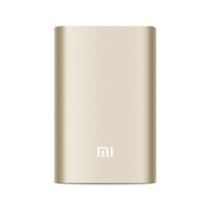 XIAOMI MI 10000mAh External Power Bank for Smartphone and Tablet PCs and Pokemon - Gold