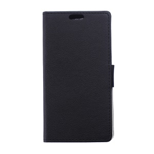 Magnetic Leather Wallet Case for Alcatel One Touch PIXI 3(3.5) 4009X 4009E - Black